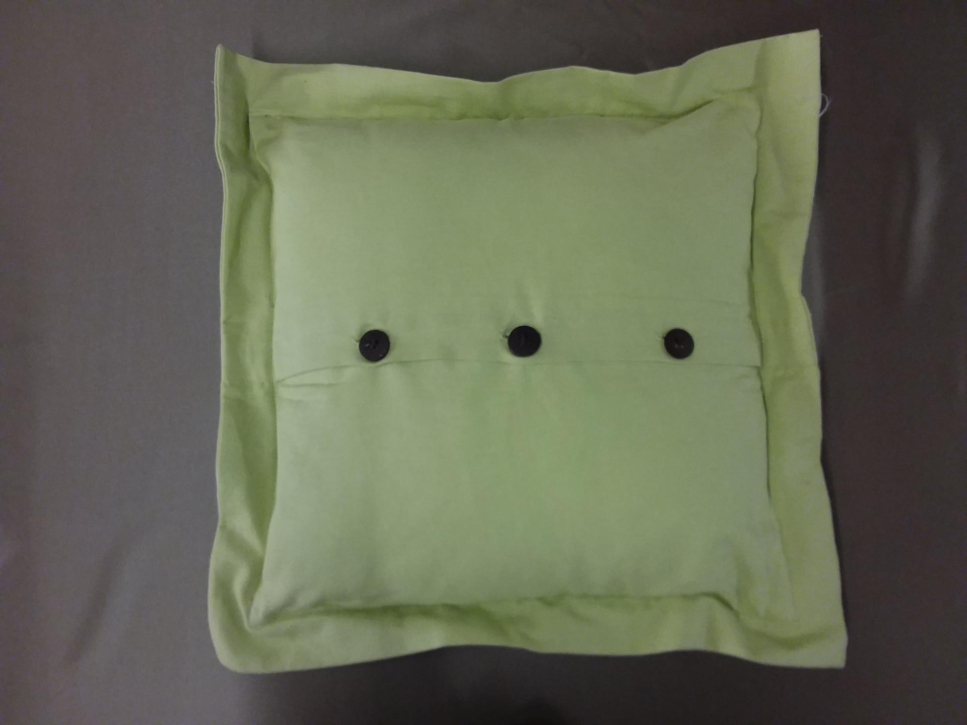 Coussine vert recto